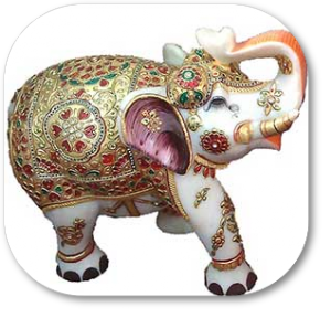 marble gold painted elephant